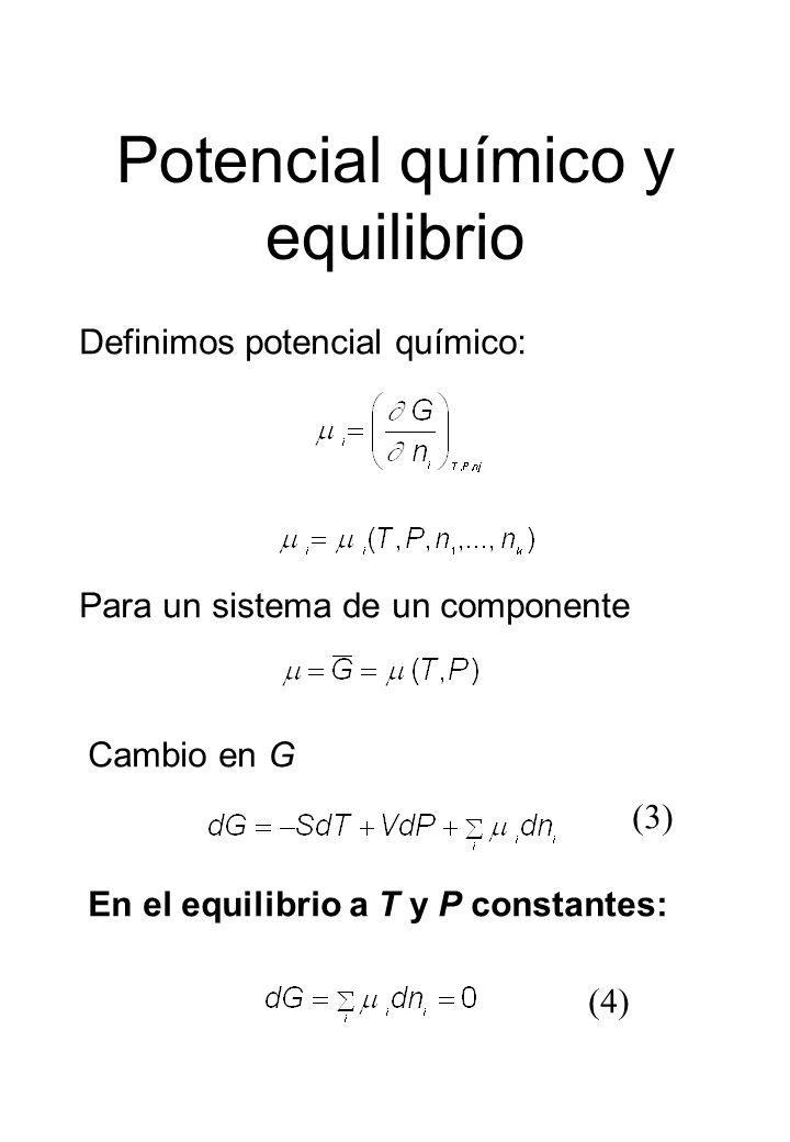 Potencial químico y equilibrio