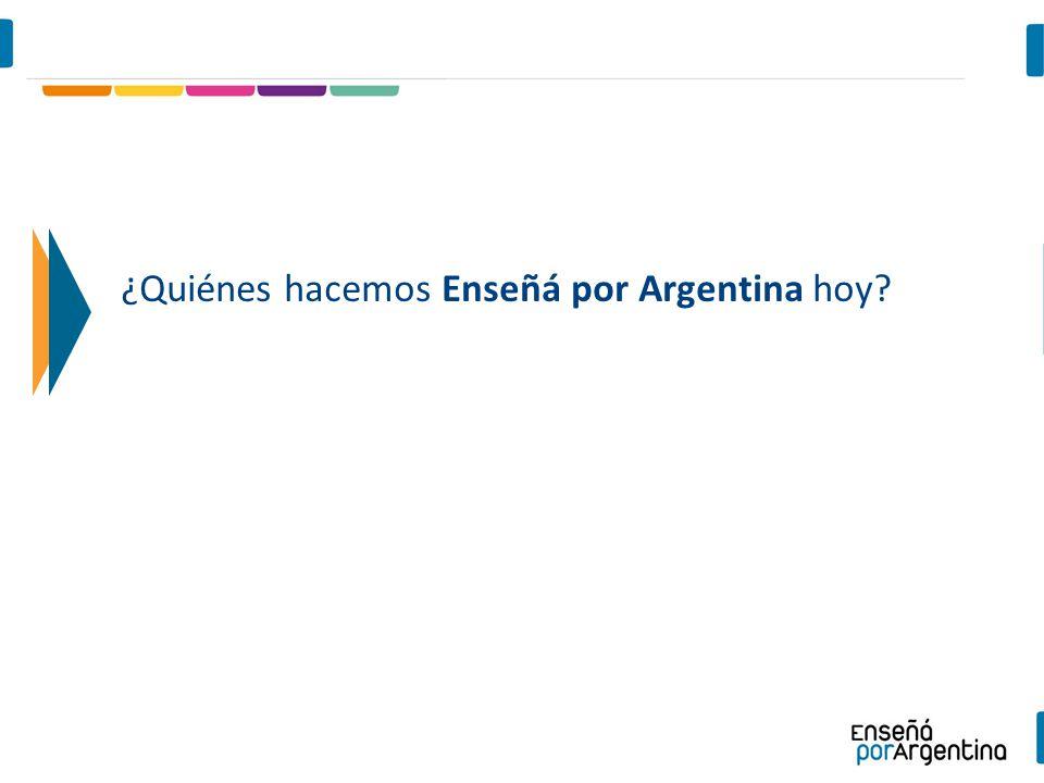 ¿Quiénes hacemos Enseñá por Argentina hoy