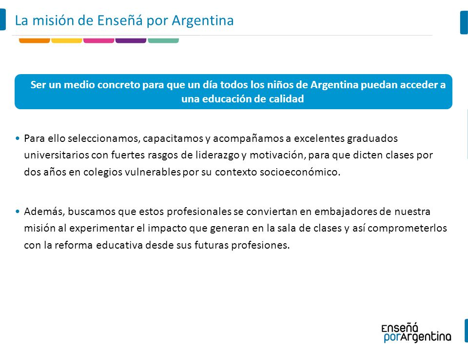 La misión de Enseñá por Argentina