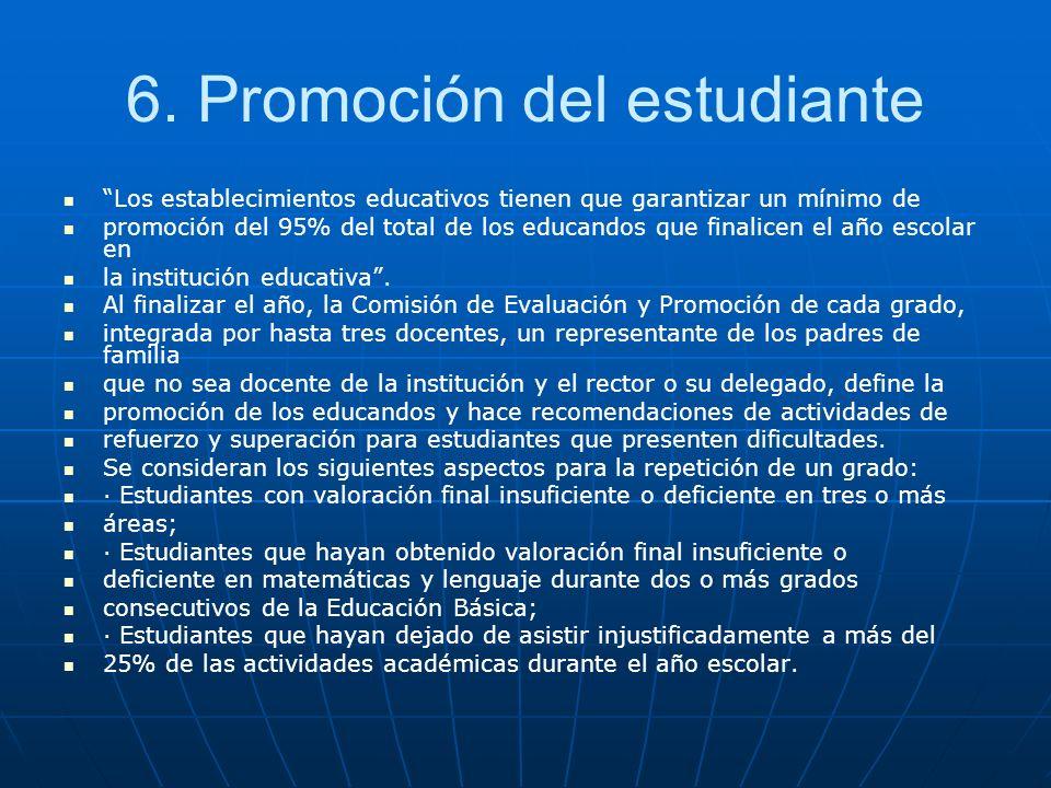 6. Promoción del estudiante
