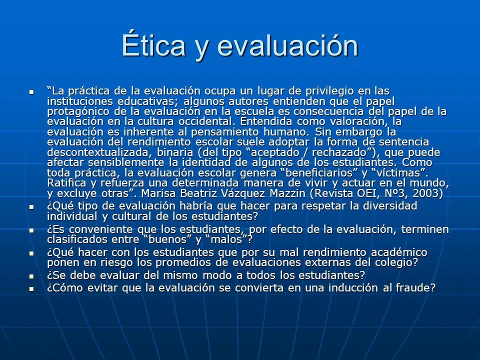 Ética y evaluación