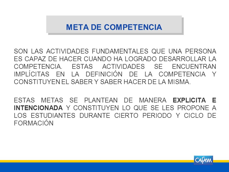 META DE COMPETENCIA