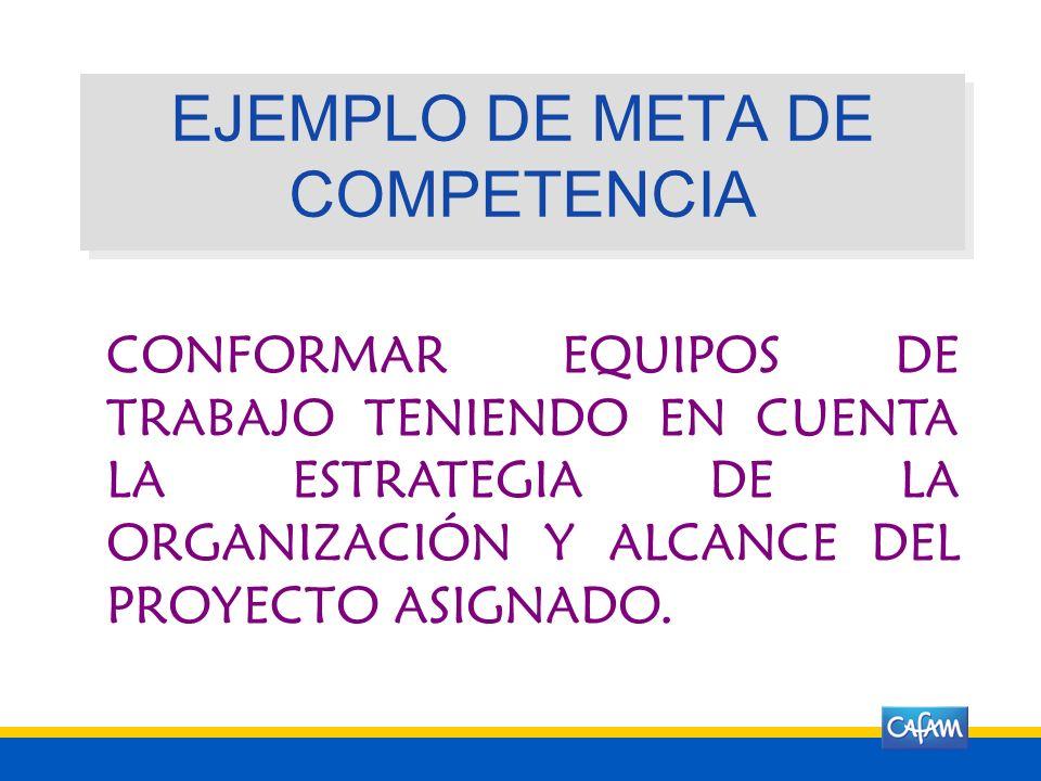EJEMPLO DE META DE COMPETENCIA