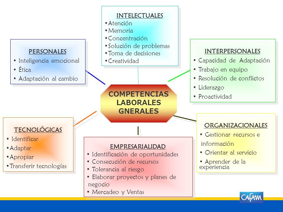 COMPETENCIAS LABORALES GNERALES