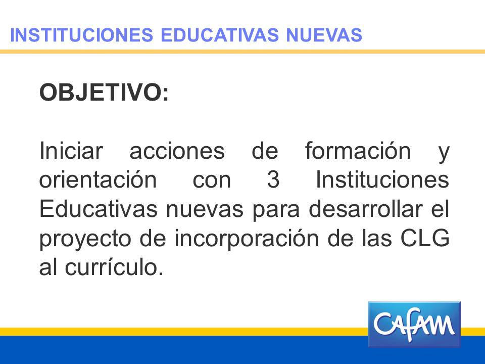 INSTITUCIONES EDUCATIVAS NUEVAS