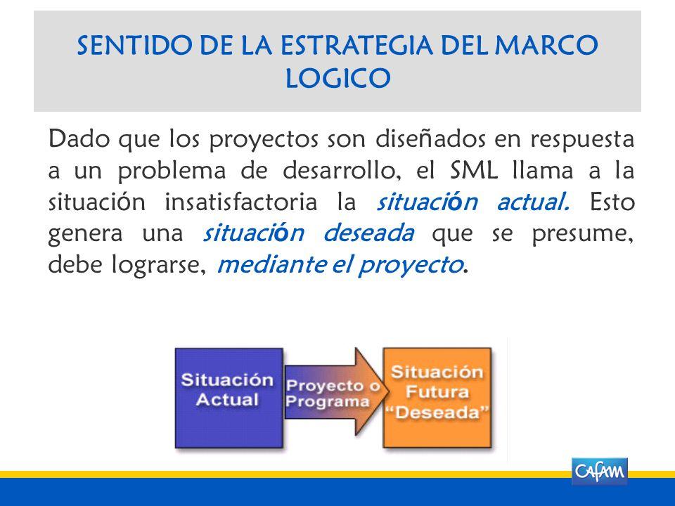 SENTIDO DE LA ESTRATEGIA DEL MARCO LOGICO