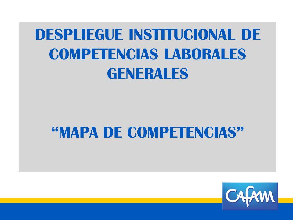 DESPLIEGUE INSTITUCIONAL DE COMPETENCIAS LABORALES GENERALES