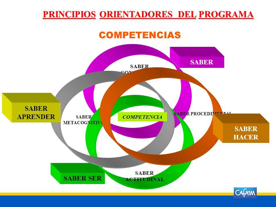 PRINCIPIOS ORIENTADORES DEL PROGRAMA