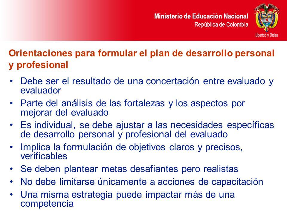 Orientaciones para formular el plan de desarrollo personal y profesional