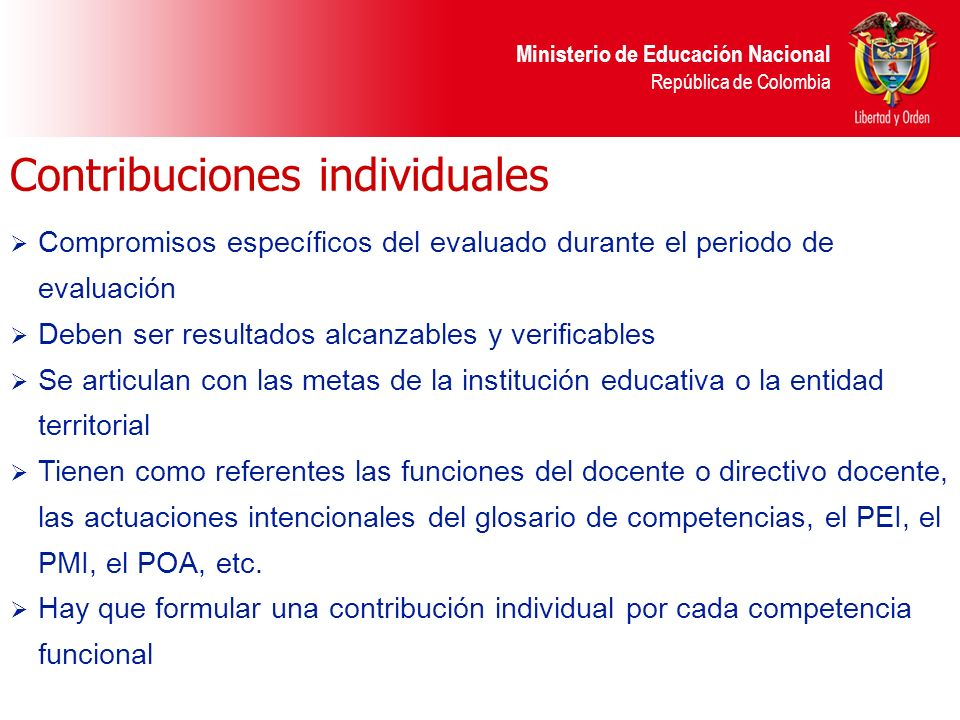 Contribuciones individuales