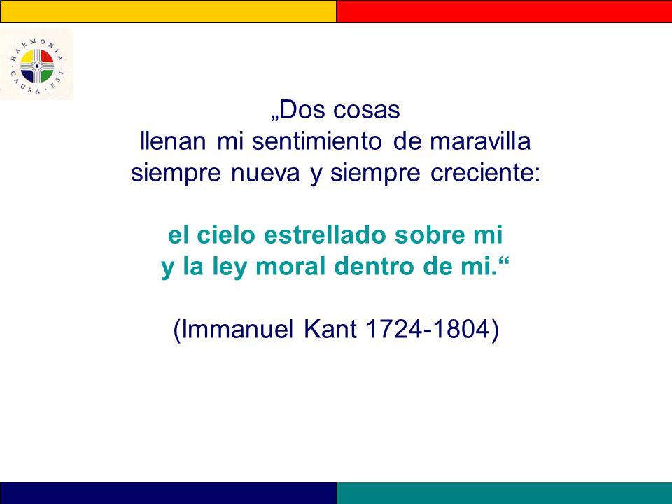 """""""Dos cosas llenan mi sentimiento de maravilla siempre nueva y siempre creciente: el cielo estrellado sobre mi y la ley moral dentro de mi. (Immanuel Kant 1724-1804)"""