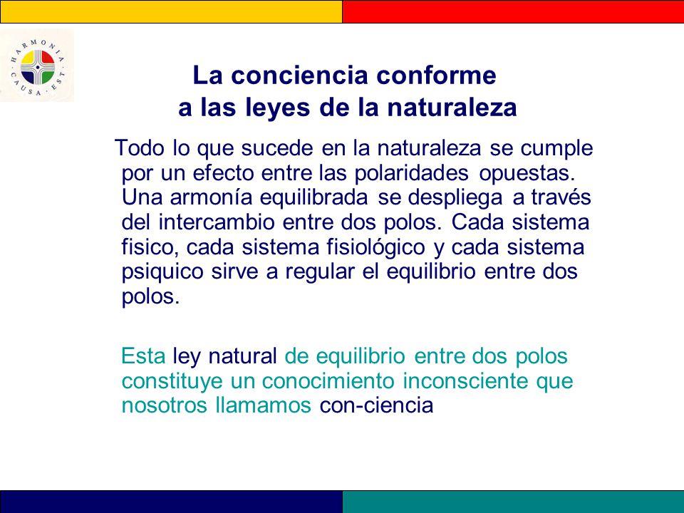 La conciencia conforme a las leyes de la naturaleza