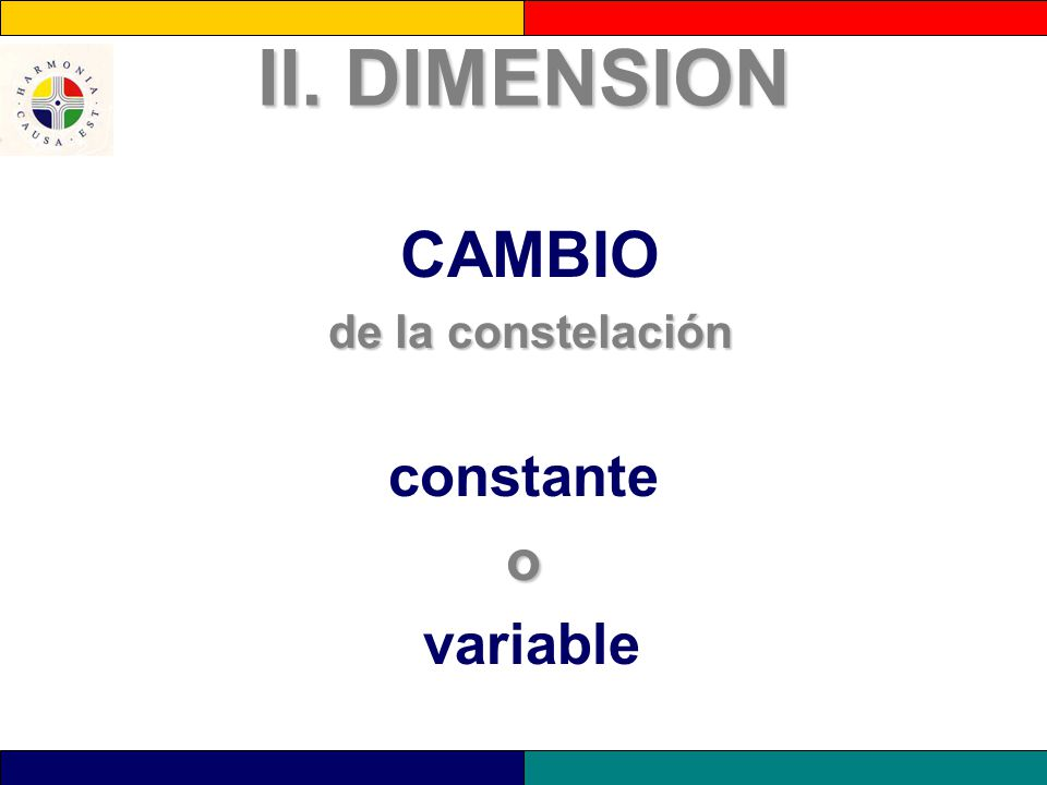 II. DIMENSION CAMBIO de la constelación constante o variable