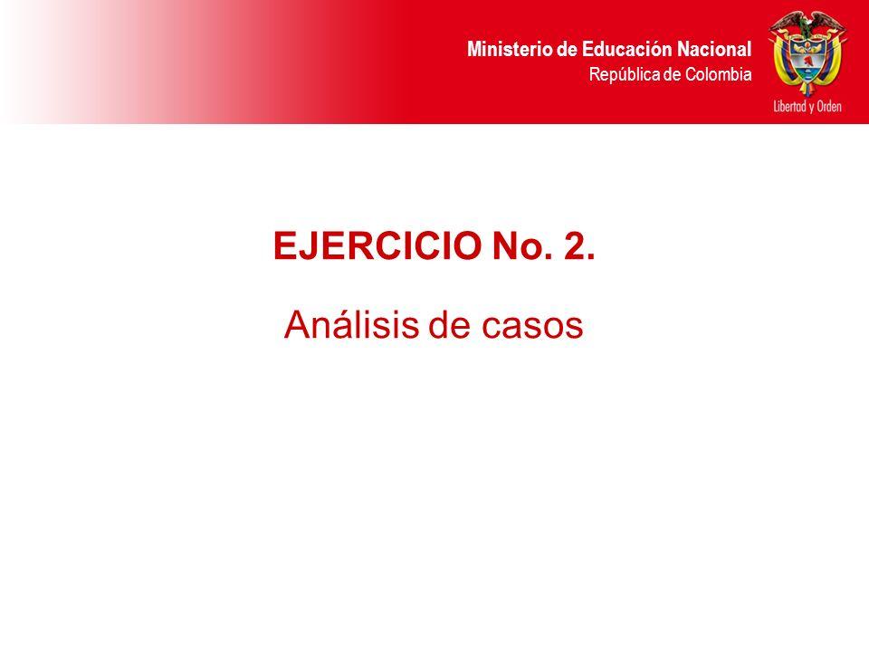 EJERCICIO No. 2. Análisis de casos 27