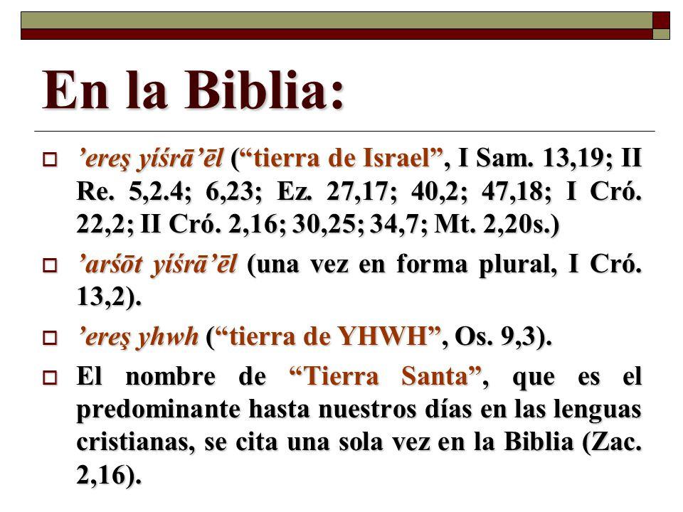 En la Biblia: