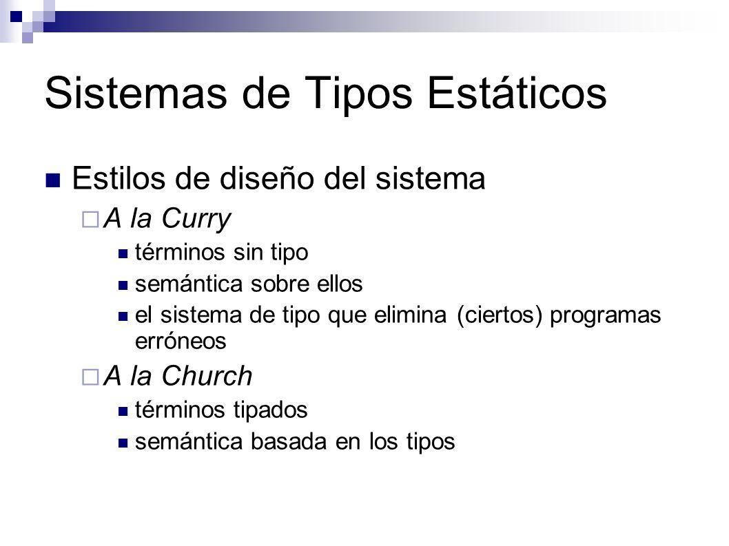 Sistemas de Tipos Estáticos