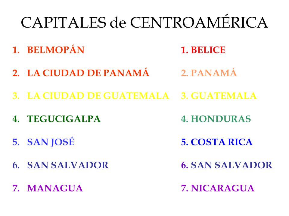 CAPITALES de CENTROAMÉRICA