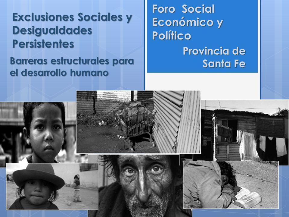 Exclusiones Sociales y Desigualdades Persistentes
