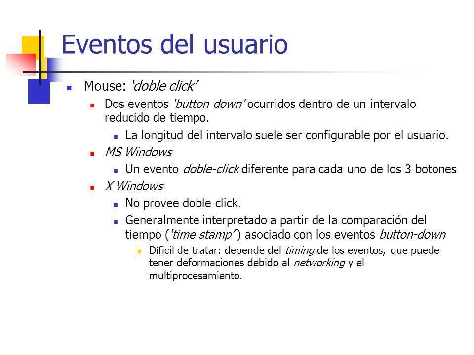 Eventos del usuario Mouse: 'doble click'