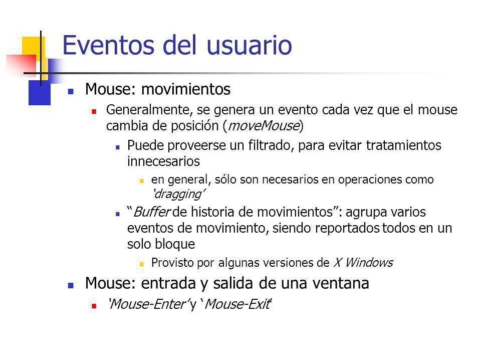 Eventos del usuario Mouse: movimientos