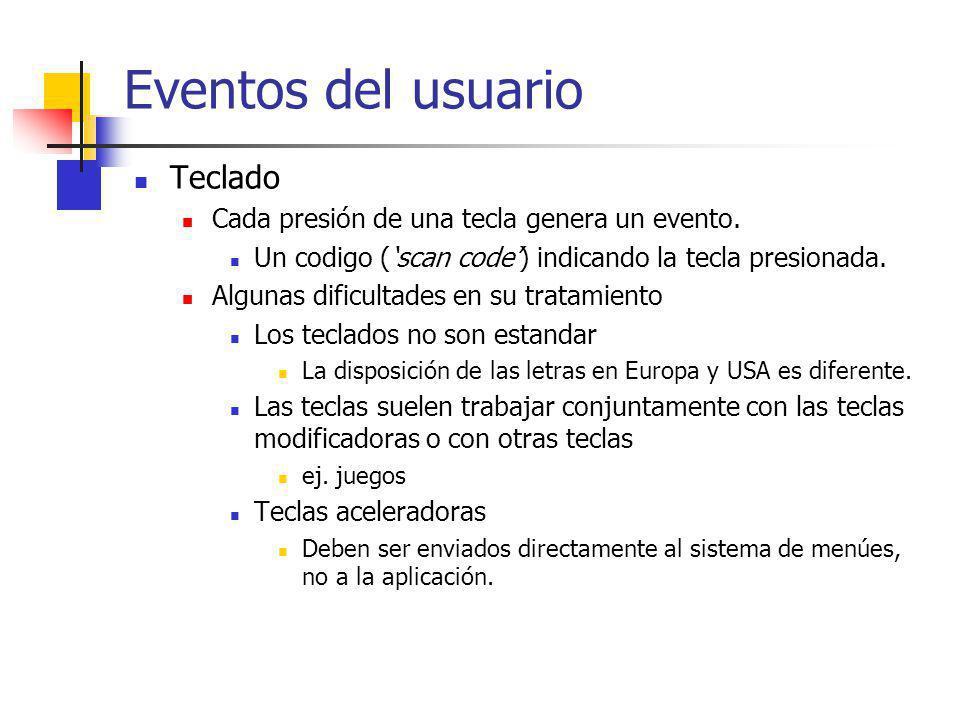 Eventos del usuario Teclado