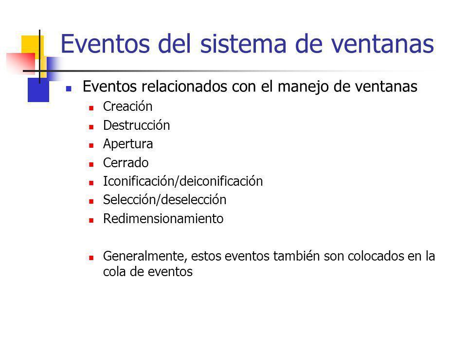Eventos del sistema de ventanas