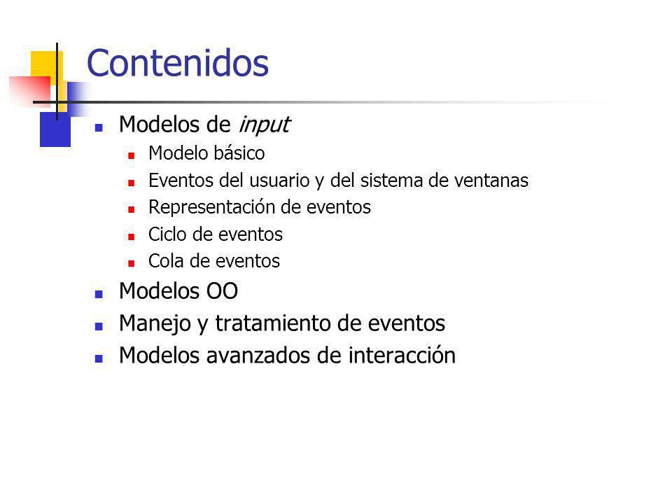 Contenidos Modelos de input Modelos OO Manejo y tratamiento de eventos