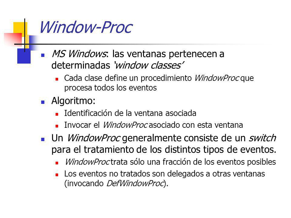 Window-Proc MS Windows: las ventanas pertenecen a determinadas 'window classes'