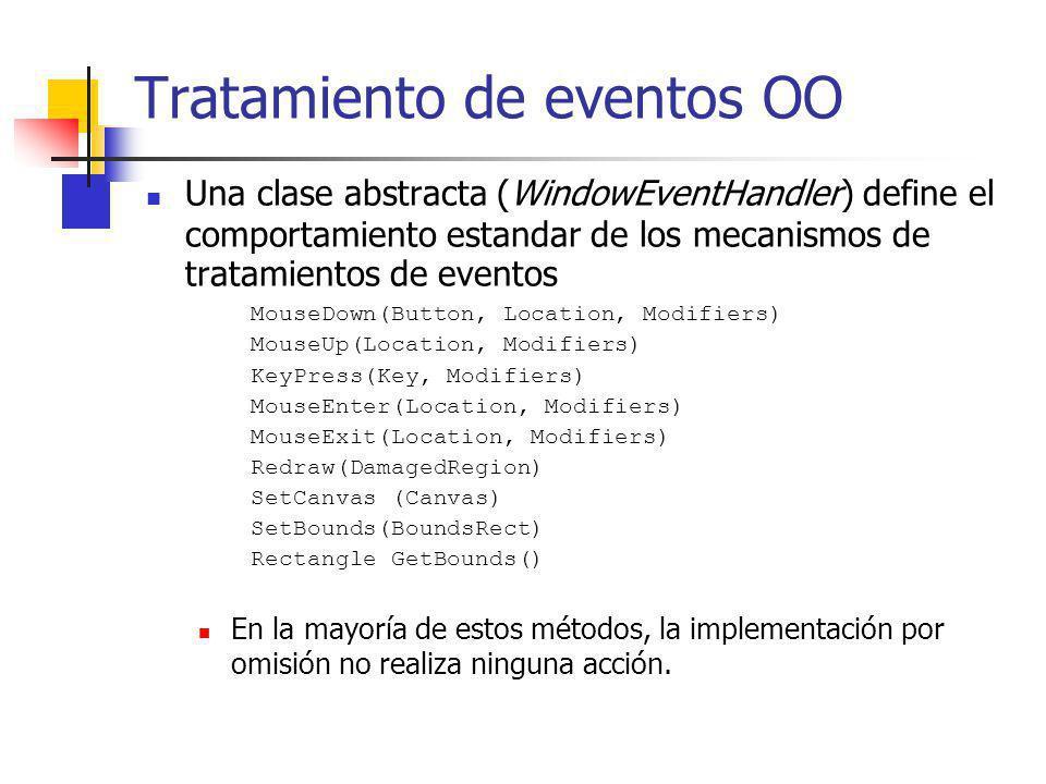 Tratamiento de eventos OO