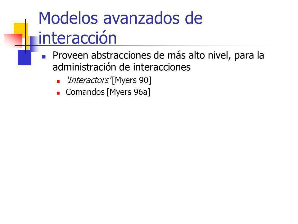 Modelos avanzados de interacción