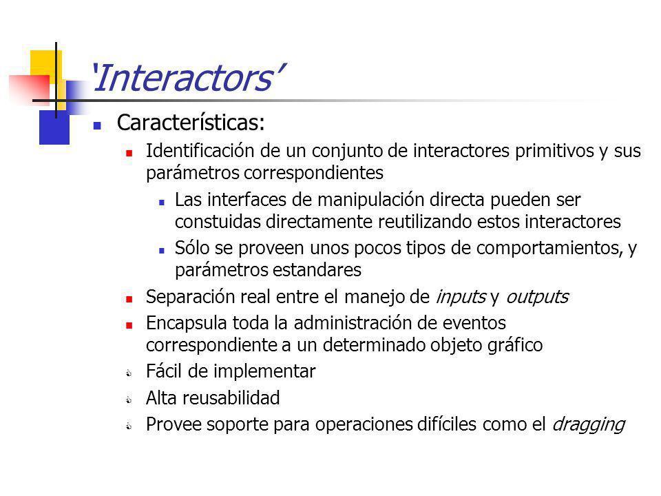 'Interactors' Características: