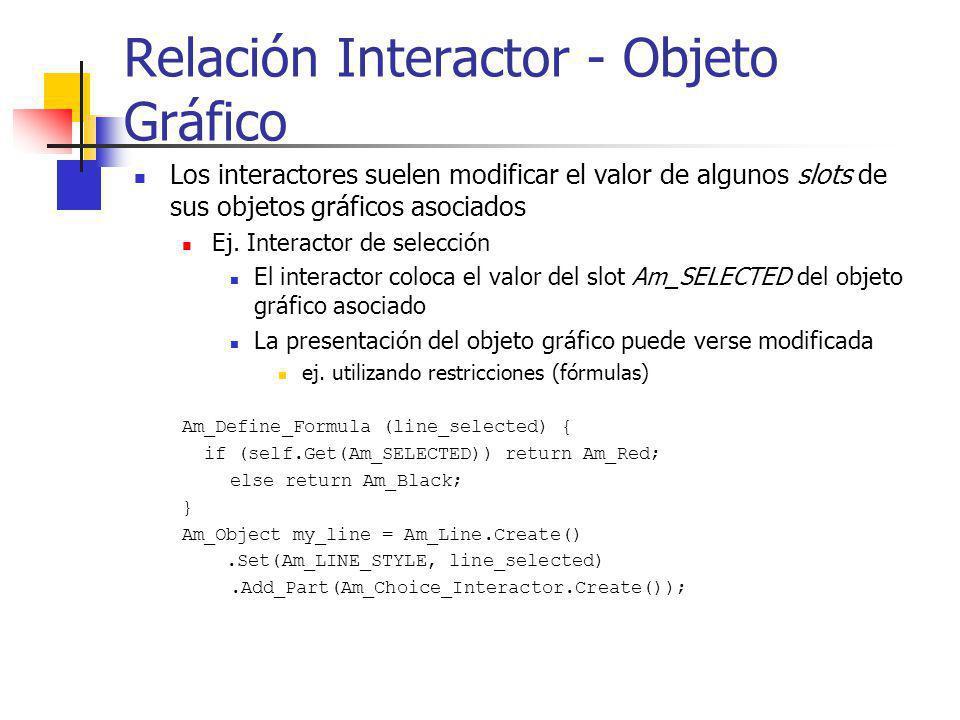 Relación Interactor - Objeto Gráfico