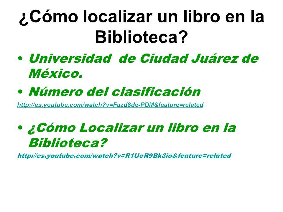 ¿Cómo localizar un libro en la Biblioteca