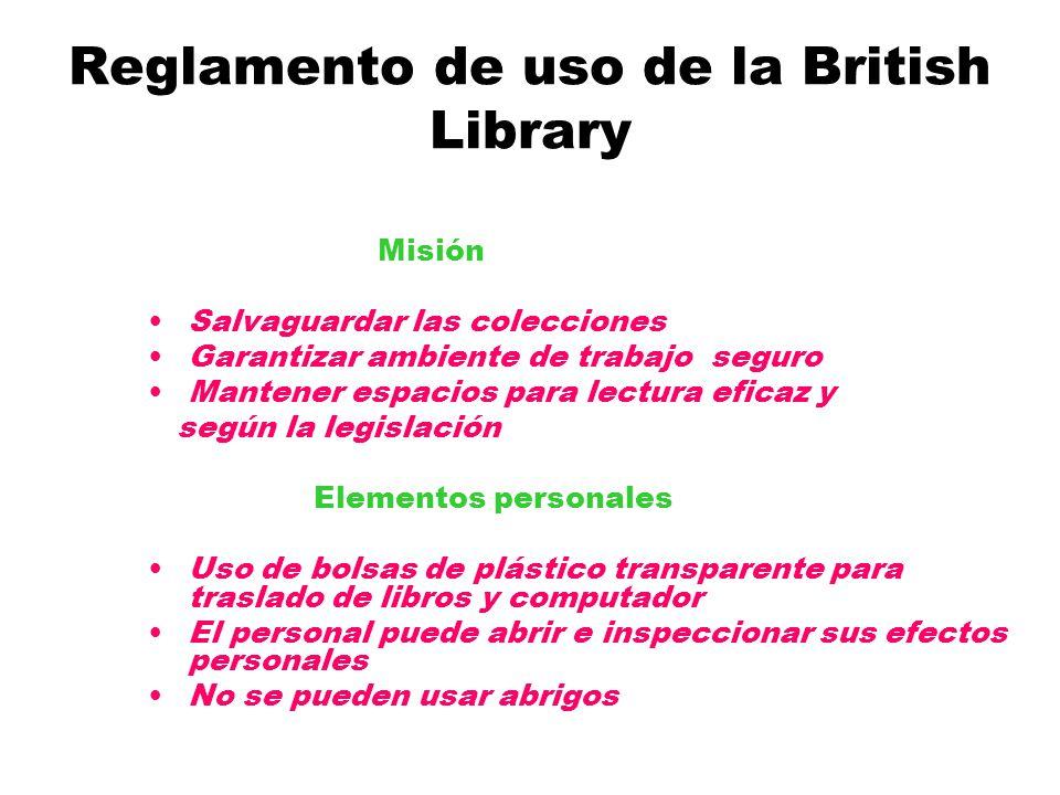 Reglamento de uso de la British Library