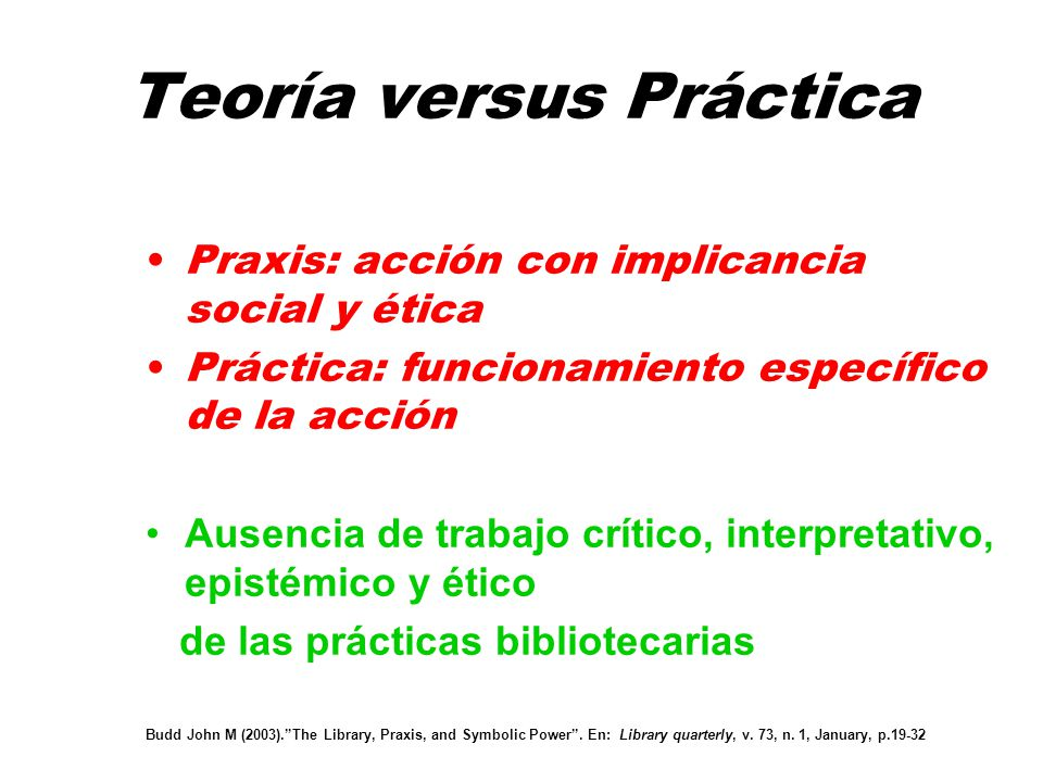Teoría versus Práctica
