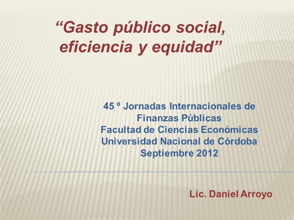 Gasto público social, eficiencia y equidad