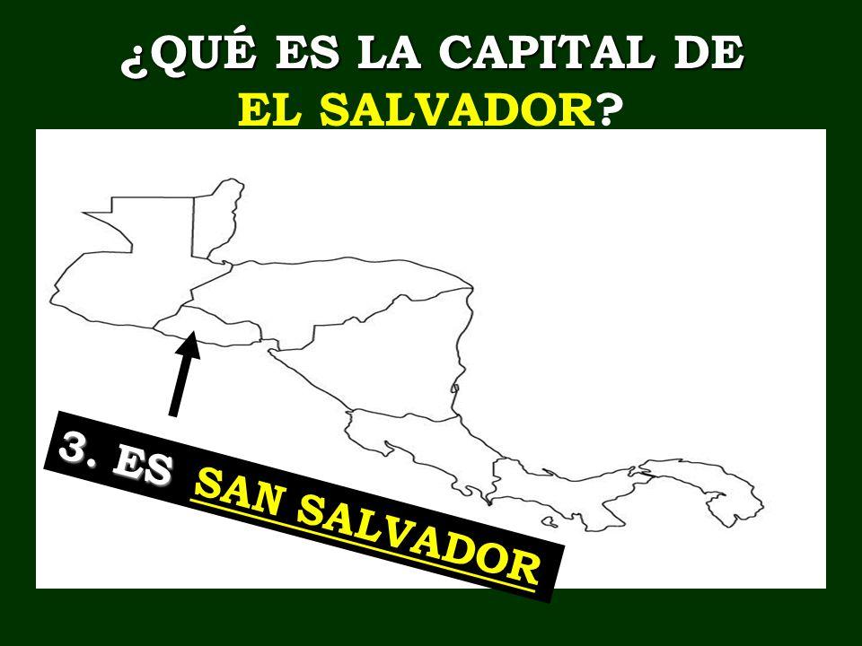 ¿QUÉ ES LA CAPITAL DE EL SALVADOR