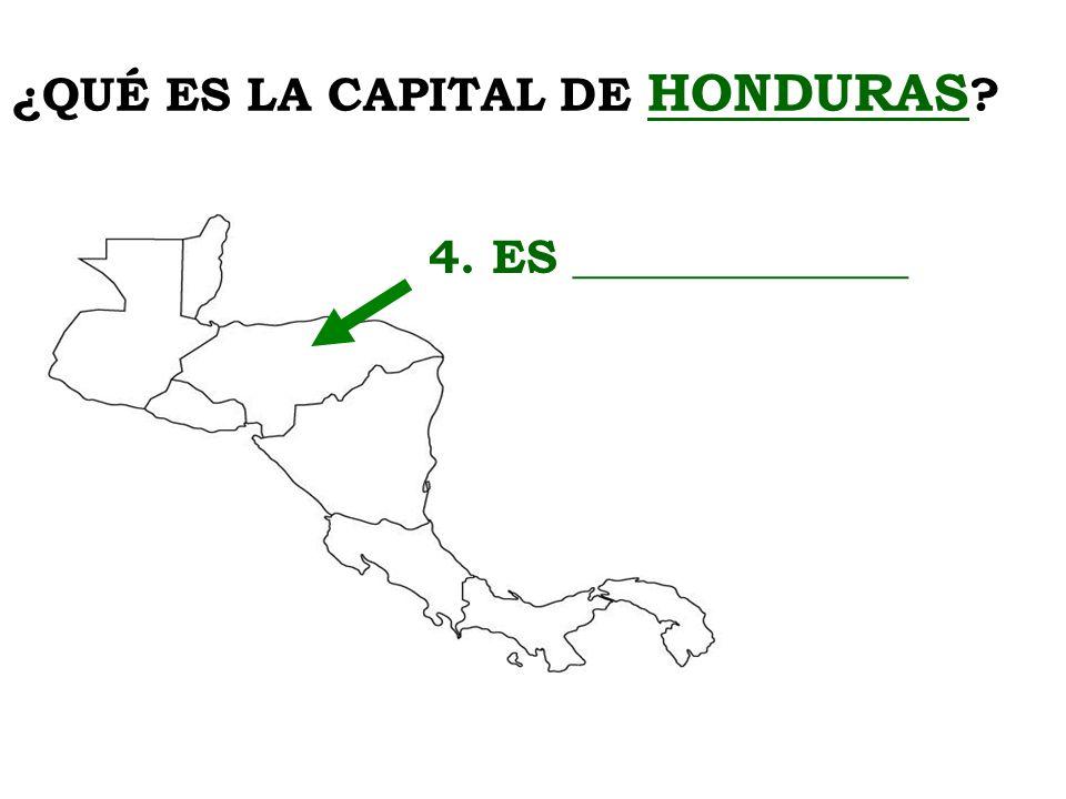 ¿QUÉ ES LA CAPITAL DE HONDURAS
