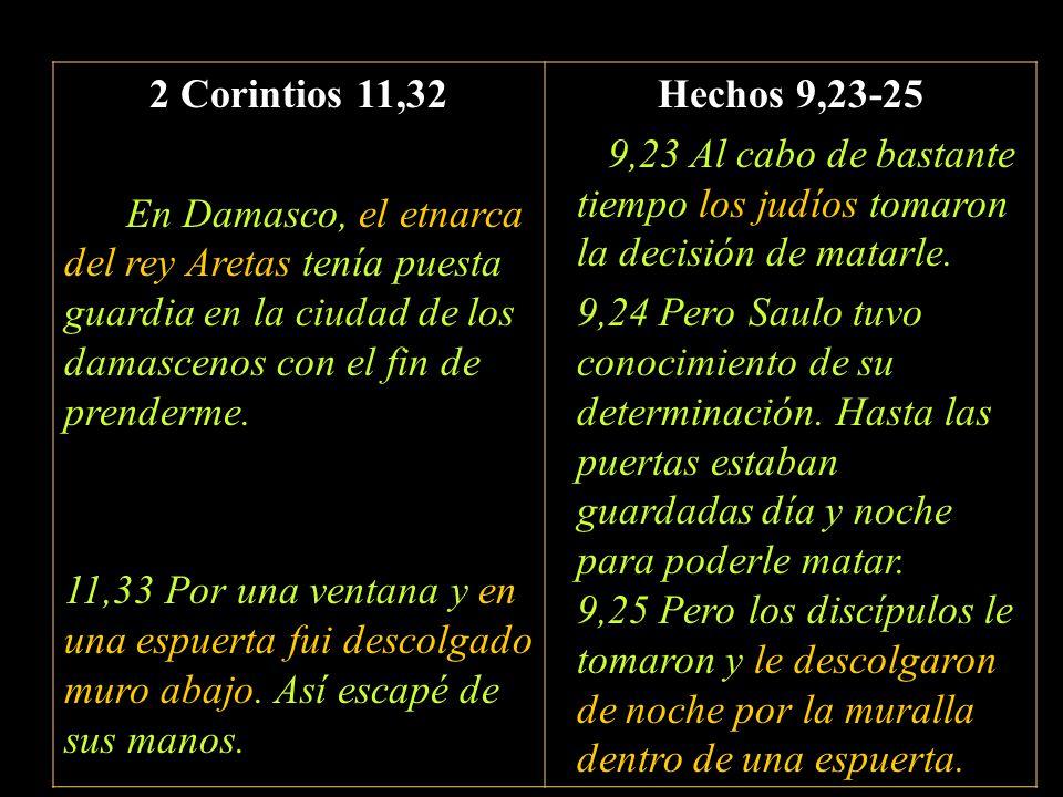 2 Corintios 11,32 En Damasco, el etnarca del rey Aretas tenía puesta guardia en la ciudad de los damascenos con el fin de prenderme.