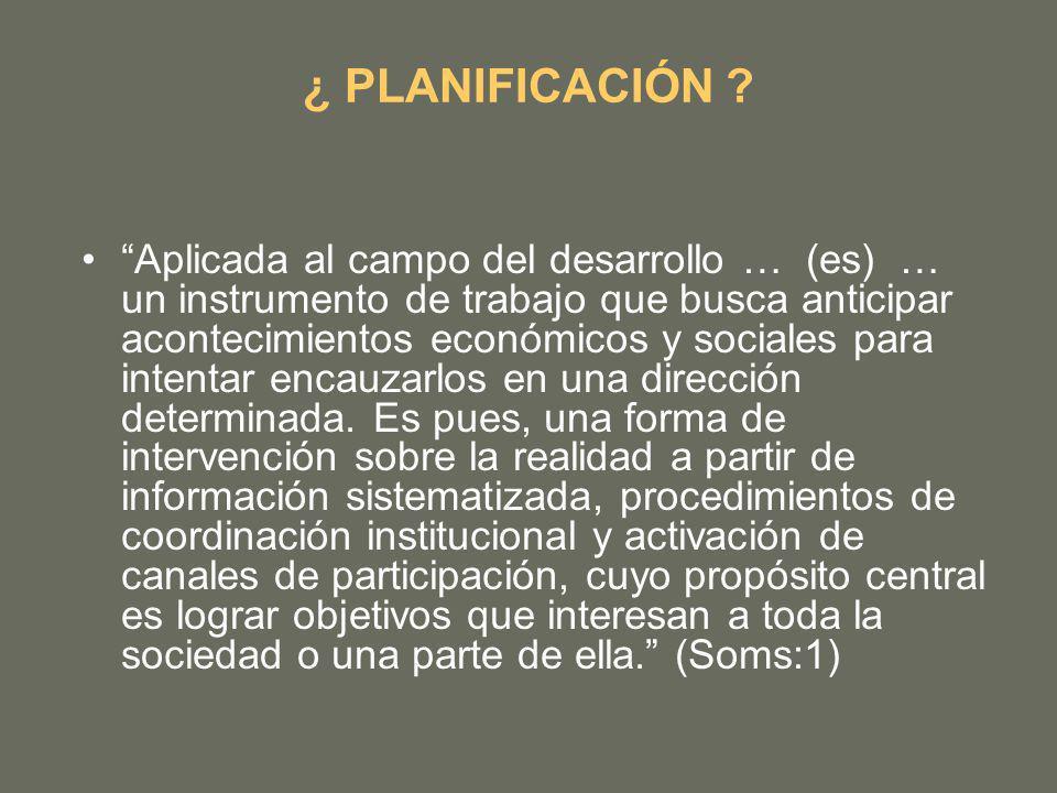 ¿ PLANIFICACIÓN