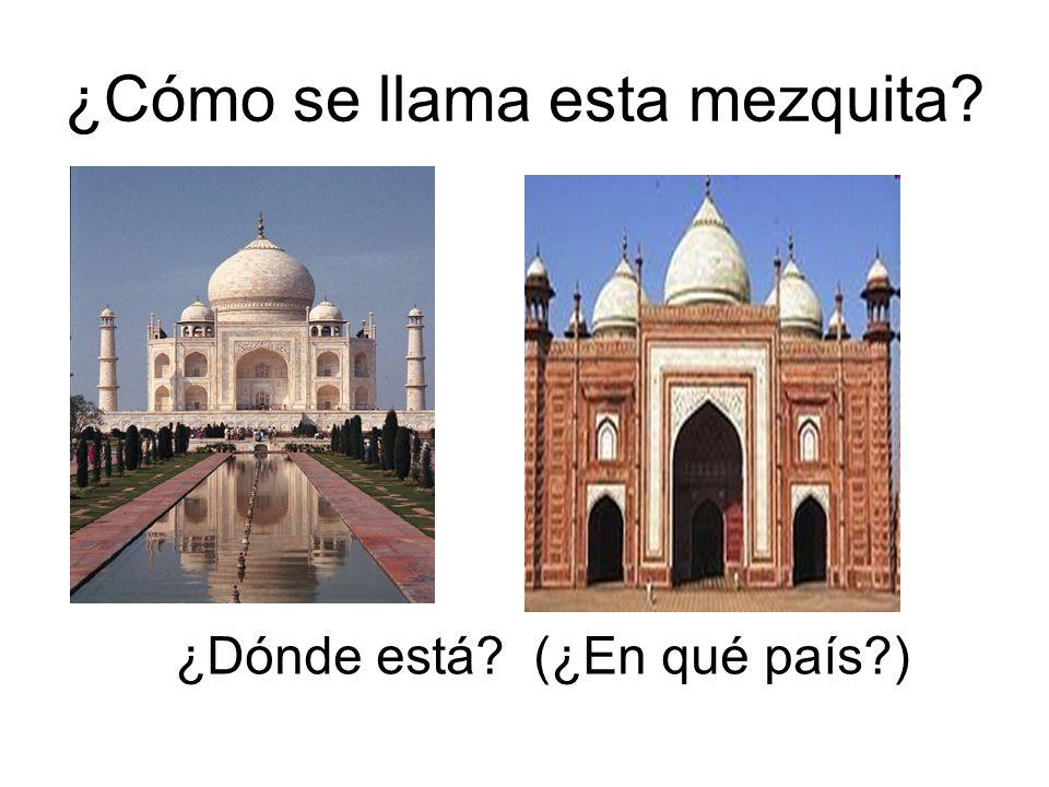 ¿Cómo se llama esta mezquita
