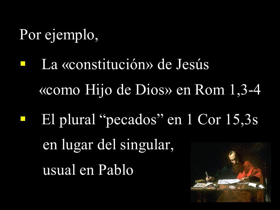 La «constitución» de Jesús «como Hijo de Dios» en Rom 1,3-4