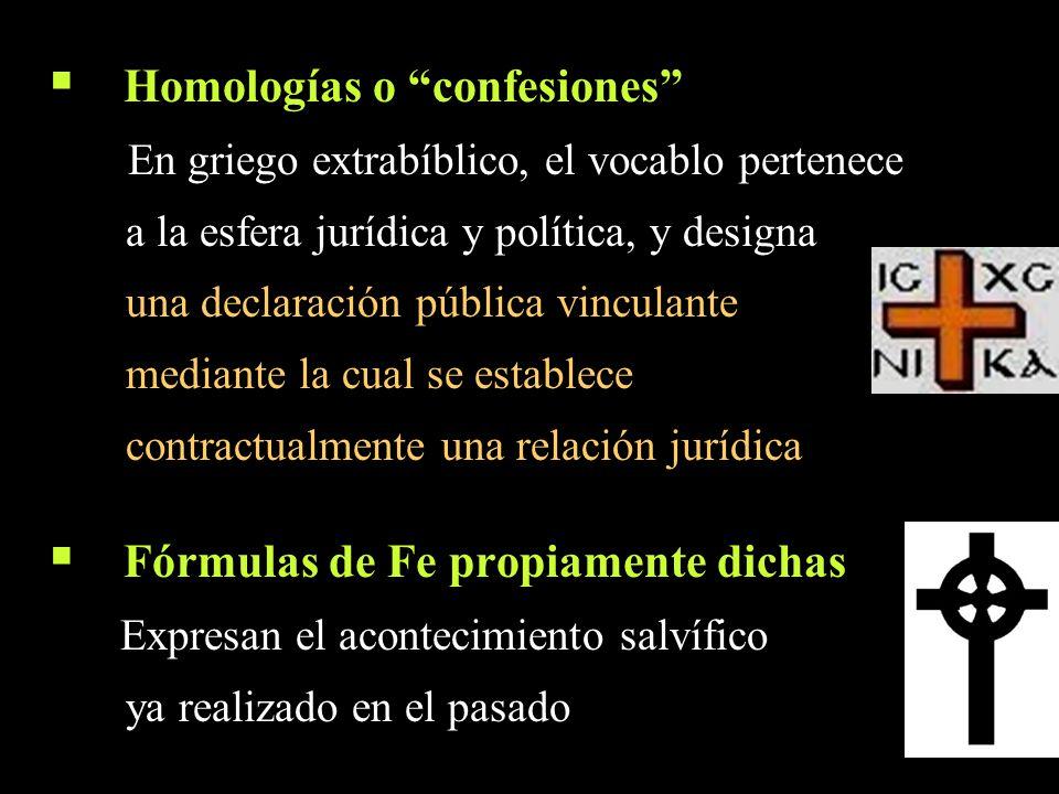 Homologías o confesiones