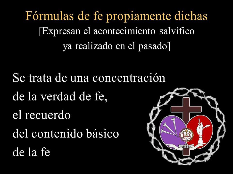 Fórmulas de fe propiamente dichas