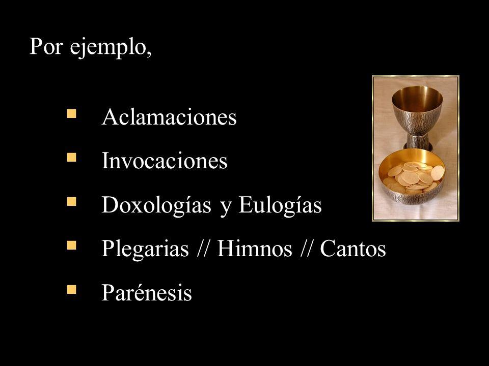 Plegarias // Himnos // Cantos Parénesis