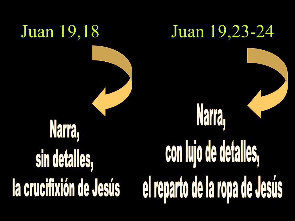 Juan 19,18 Juan 19,23-24 Narra, con lujo de detalles, Narra,