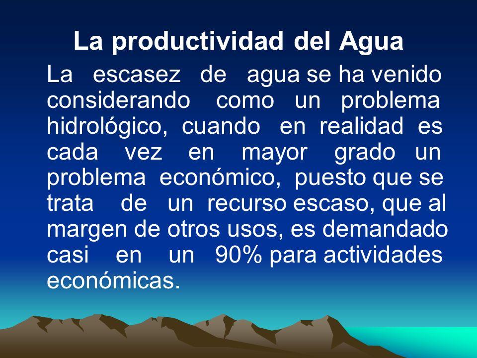 La productividad del Agua