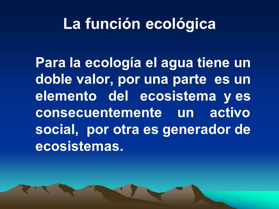 La función ecológica