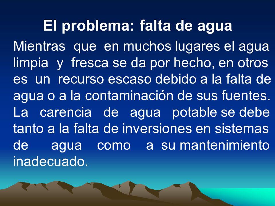 El problema: falta de agua