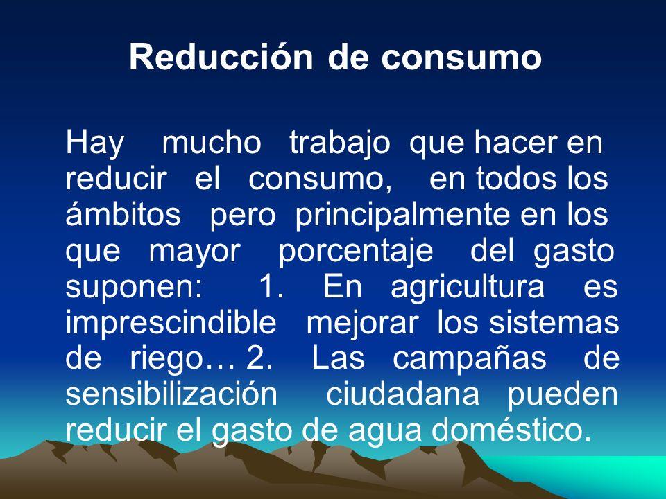 Reducción de consumo